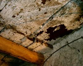 solaio in legno da restaurare