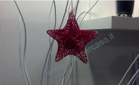 Stella Di Natale In Stoffa.Fare Una Stella Per L Albero Di Natale Con Filo Di Ferro Stoffa E