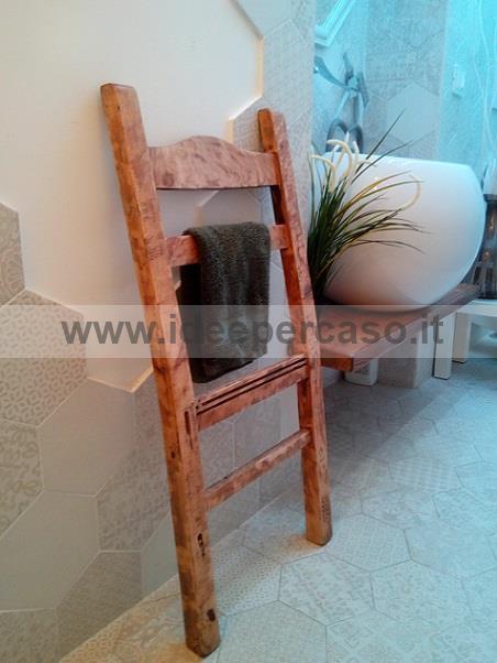 Upcycling di una vecchia sedia trasformata in porta - Porta asciugamani fai da te ...