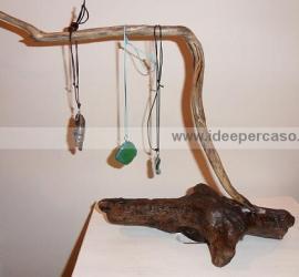 riciclo dei legni del mare ecco come fare un porta collane