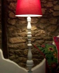lampada da terra shabby chic