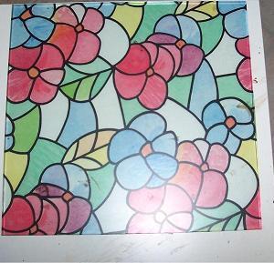 pellicola adesiva per vetri motivi floreali