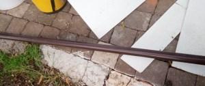 bastone per tende di legno