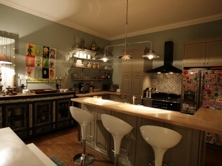 Cuisine Rouge Et Gris Moderne