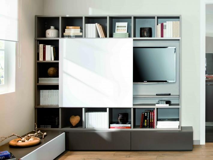 meuble de television moderne avec espaces de rangements schmidt
