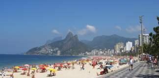 Ipanema Beach in Brasile