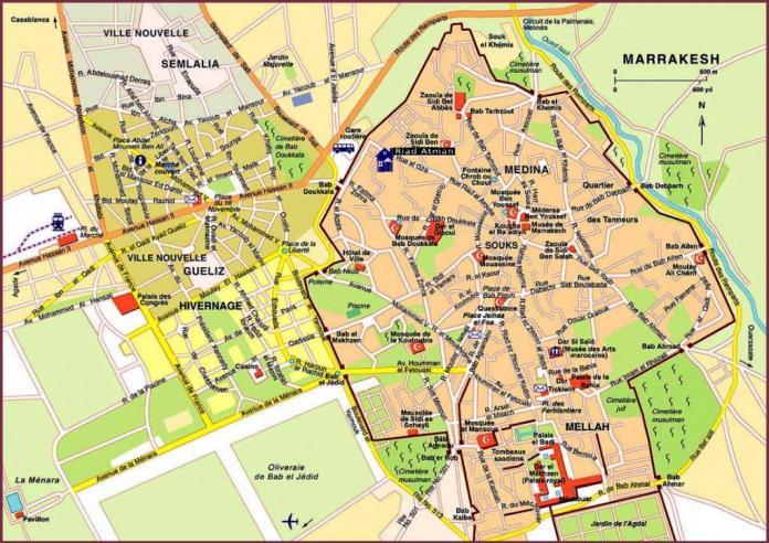 Mappa di Marrakech: le migliori zone dove dormire