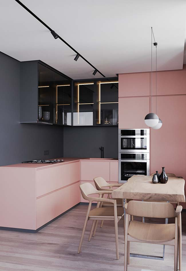 Cozinha Rosa 50 Ideias Tendncias E Projetos Com A Cor