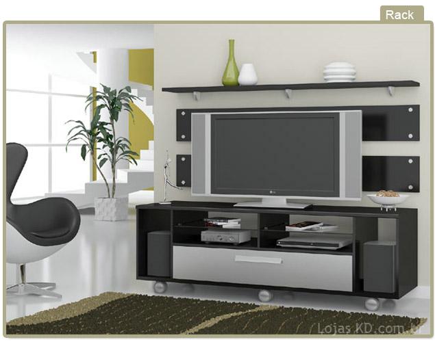 Rack para Sala de TV Diversos Modelos em Fotos  Ideias Mix