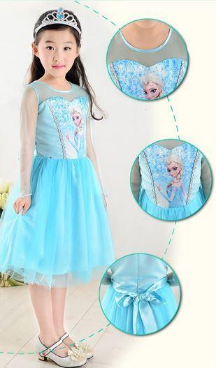 Veja Belos Vestido Infantil Elsa Frozen de Festa  Ideias Mix