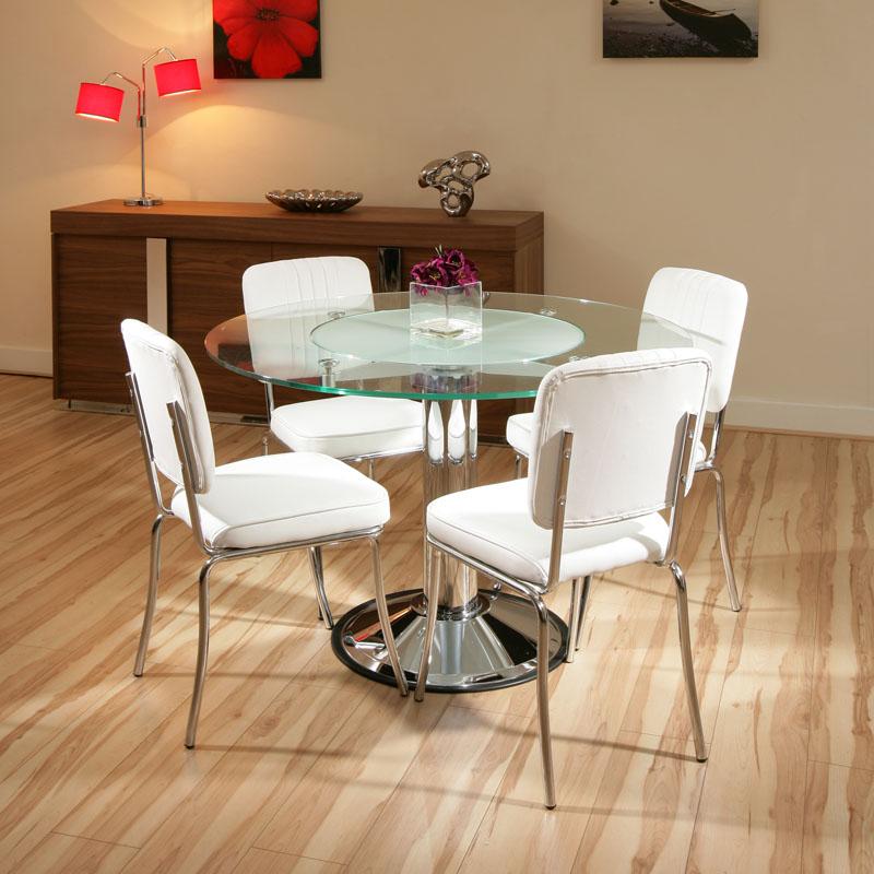 Modernas Mesas de Vidro para Sala de Jantar  Ideias Mix
