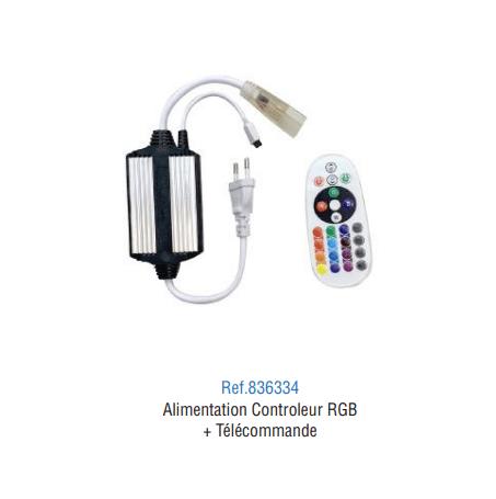 Alimentation Ruban LED 220V RGB avec télécommande