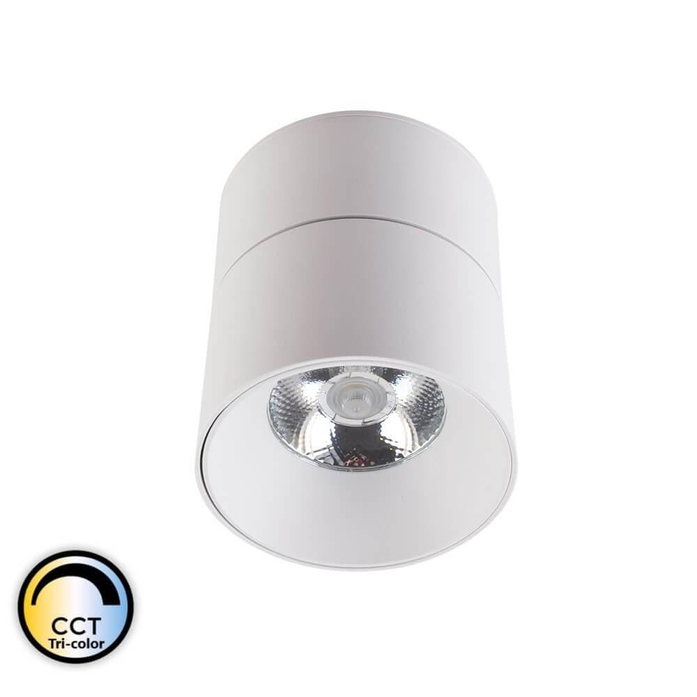 CRETEIL – Applique LED Cylindre saillie orientable blanche 15W CCT Tricolor IP20