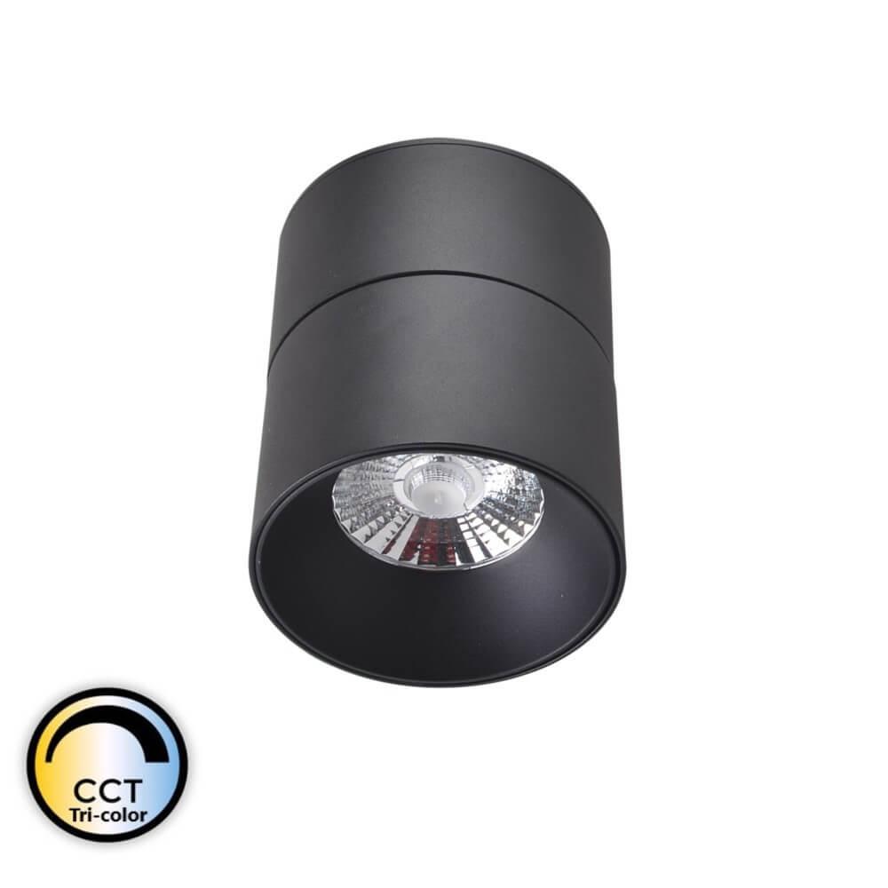 CRETEIL – Applique LED Cylindre saillie orientable noire 15W CCT Tricolor IP20