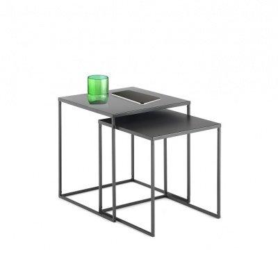 Trova una vasta selezione di tavolino da salotto design a prezzi vantaggiosi su ebay. Coppia Di Tavolini Da Soggiorno Design Minimal Acciaio Antracite