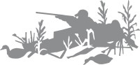 Duck Hunting Layout Blind Wall Decal