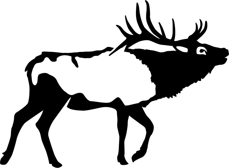 Bull Bugle Elk Wall Decal