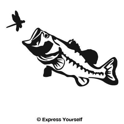 Big Mouth Largemouth Bass Decal