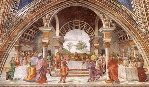 Banquet Italian Renaissance Painting