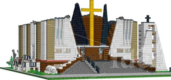Bricks city and LEGO custom order Church in Łomianki