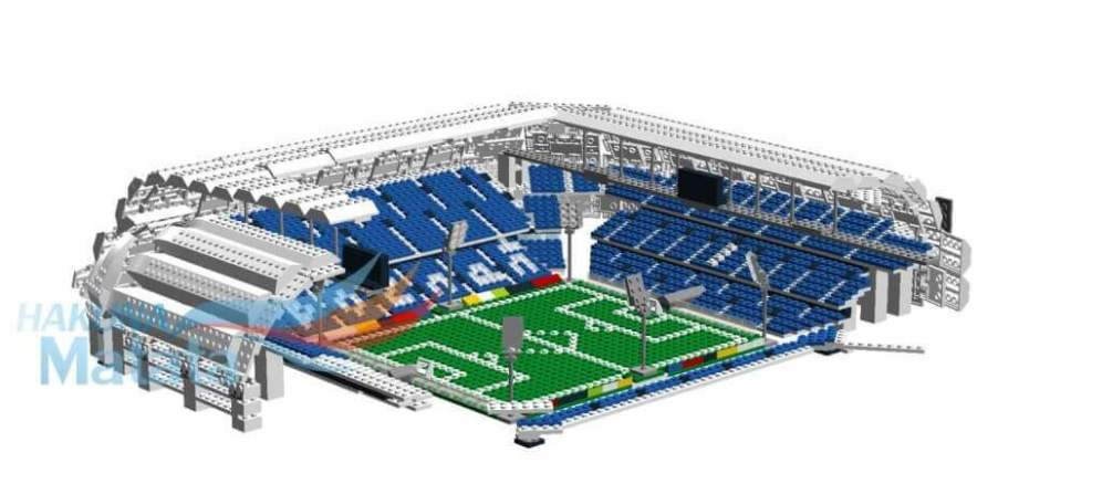 LEGO bricks model for olders, Town Stadium in Poznan by Matt Kustra bricks