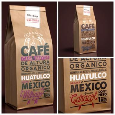 Etiquetas para Café Casa Mayor