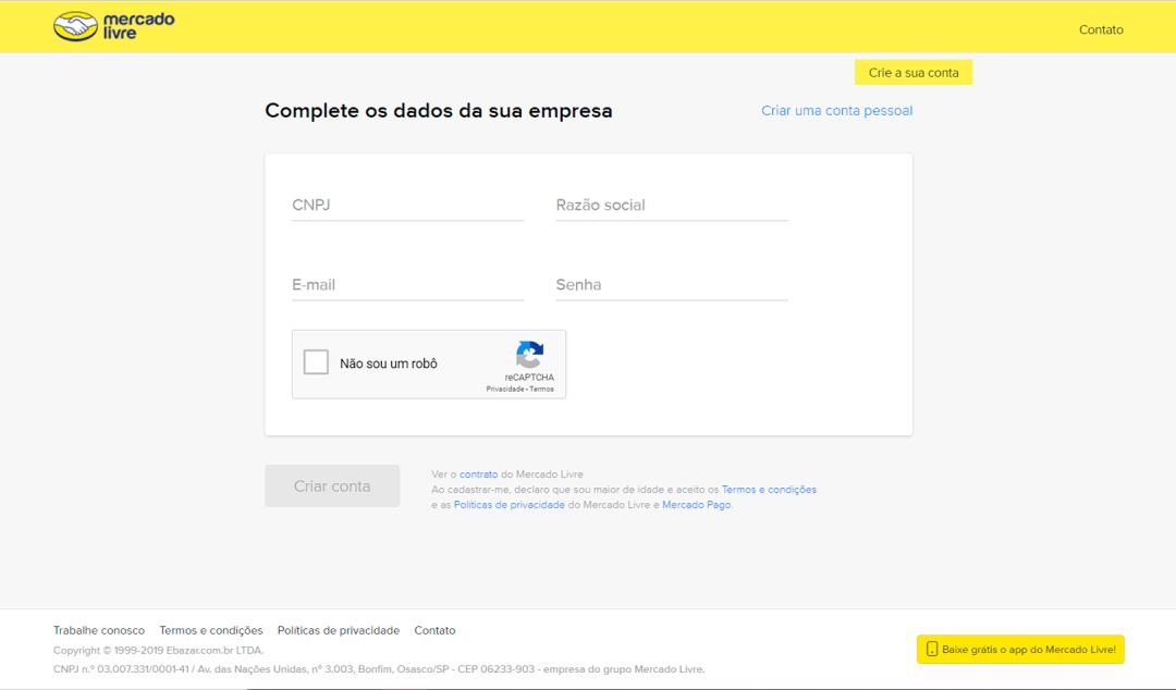 formulário de inscrição meli 2