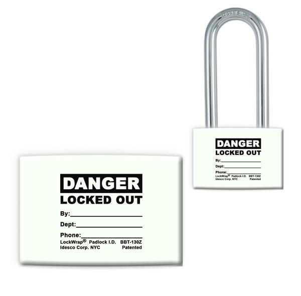 Lockwrap® Color-Coded Padlock Sleeve, Danger, Locked Out