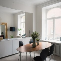 Inexpensive Kitchen Cabinets Modern Lights Small Studio Apartment In Stockholm With Sleeping Loft ...