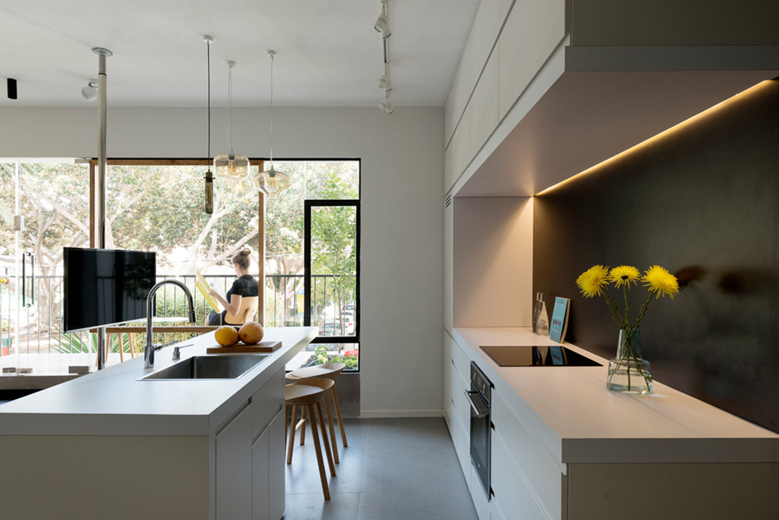 600 Square Foot Apartment Uses Glass Walls To Create Two Bedrooms  iDesignArch  Interior