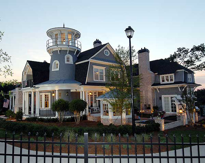 mid level kitchen cabinets best aid mixer traditional shingle style classic american cottage with ...