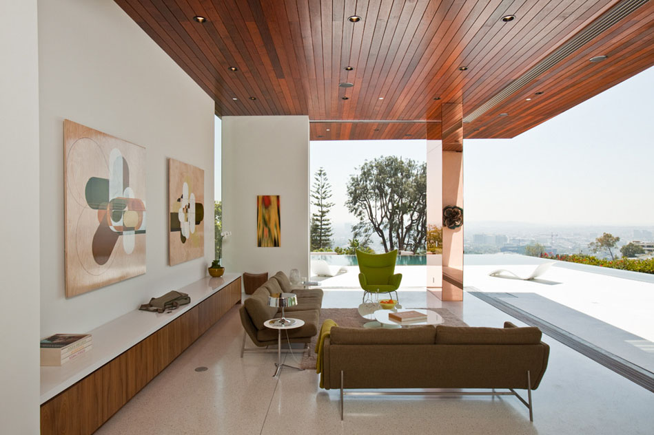 small sofas for rooms in india and chairs mn modernist house hollywood hills | idesignarch ...