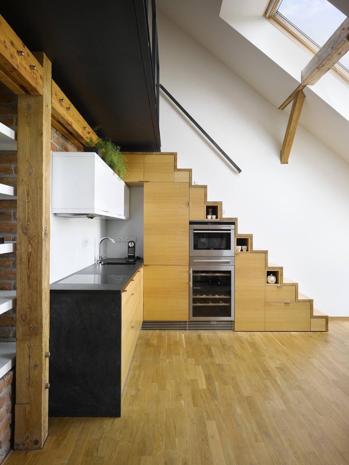 Small Attic Loft Apartment In Prague  iDesignArch  Interior Design Architecture  Interior