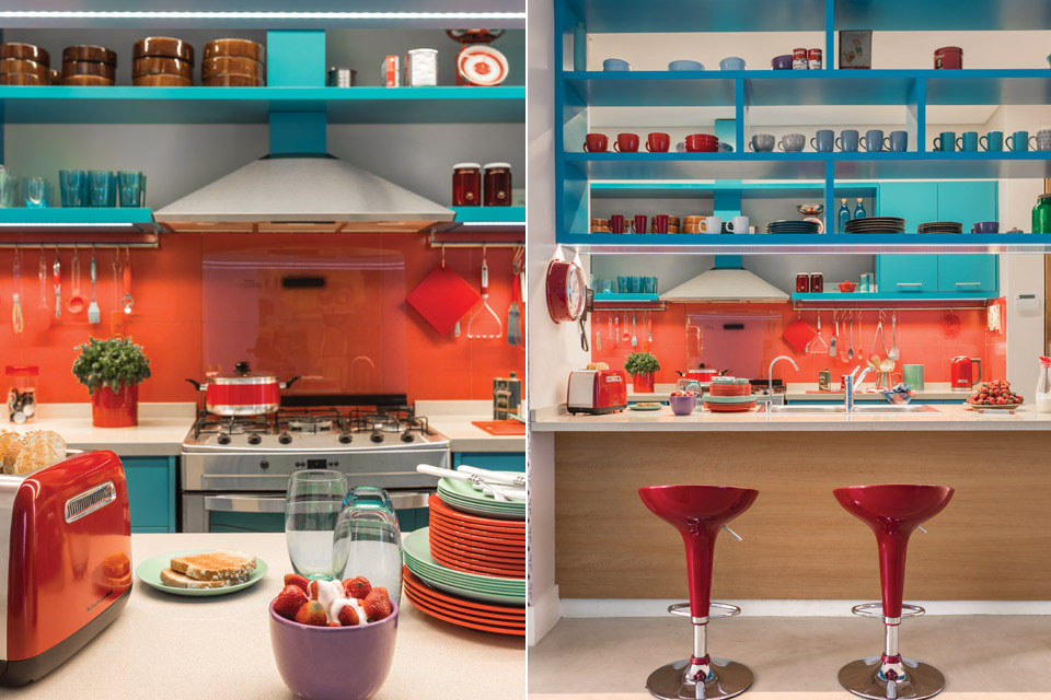 country living rooms with fireplaces room decor pinterest azure-blue-red-orange-kitchen_5