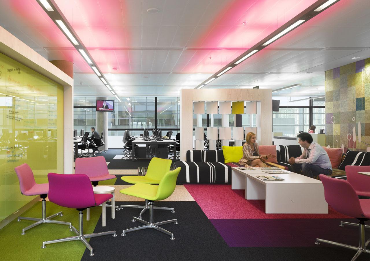 hot pink office chair wheelchair zombie bbc north creative interior spaces   idesignarch design, architecture & ...