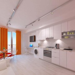 Kitchen Backyard Design Braun Appliances Stylish And Functional Suburban Small Condo Apartment ...