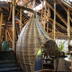 Modern Outdoor Kitchen Gel Mats Dramatic Bamboo House In Bali | Idesignarch Interior ...