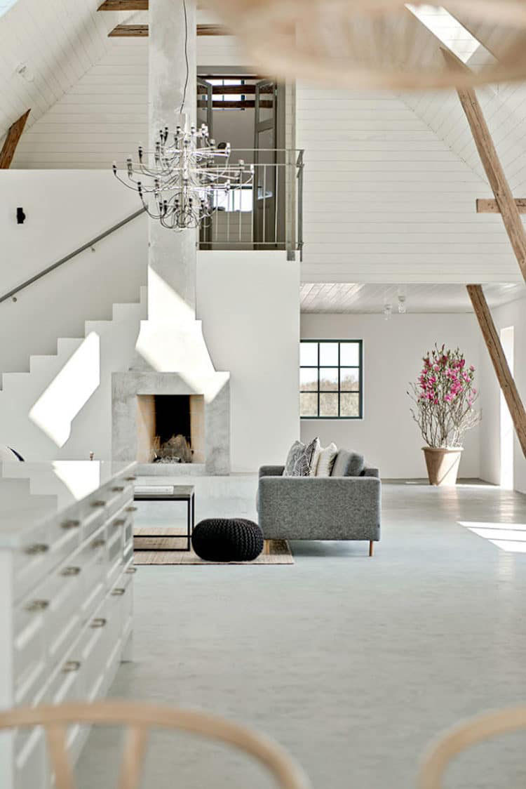 An Old Barn in Sweden is Converted into a Modern Country Home  iDesignArch  Interior Design