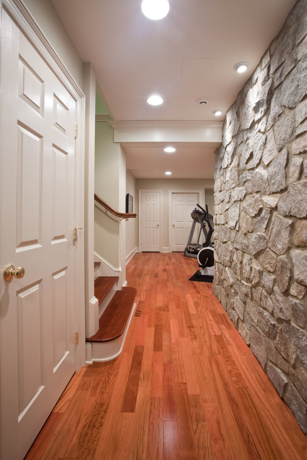 Basement Renovation With Rustic Stone Walls  iDesignArch  Interior Design Architecture