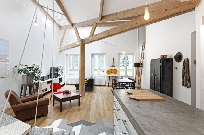 Unconventional Paris Loft Apartment