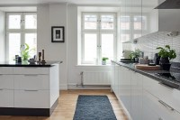 Black And White Themed Scandinavian Apartment With Modern ...