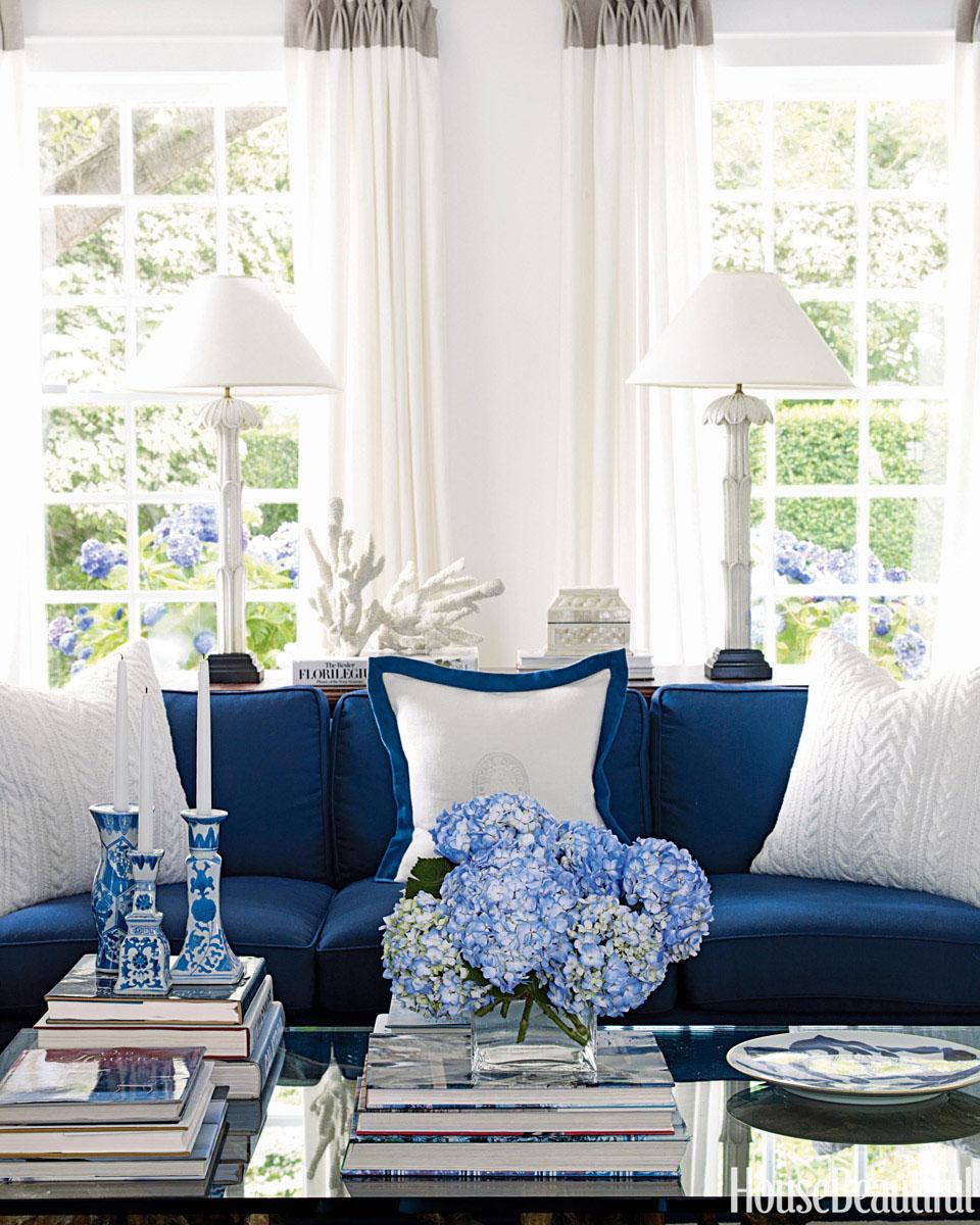 Blue and White Costal Decor  iDesignArch  Interior Design Architecture  Interior Decorating
