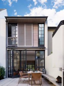 Modern Row House Inspired Neighbouring Victorian