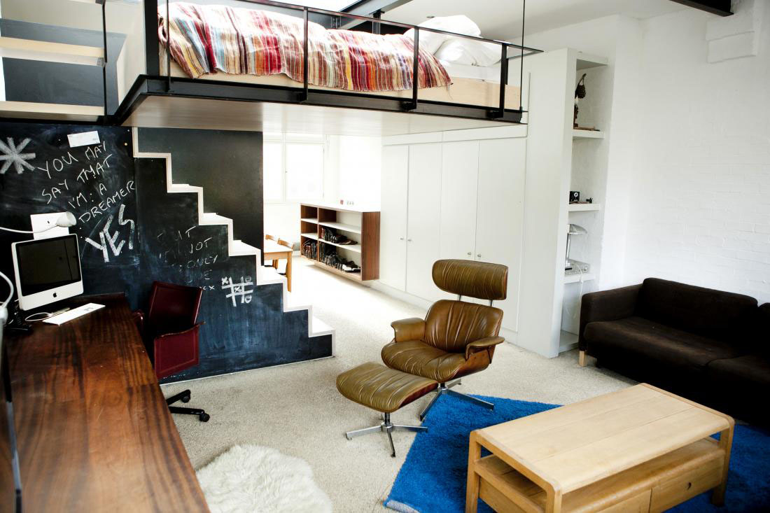 Modern Bohemian Studio Flat With Suspended Bed