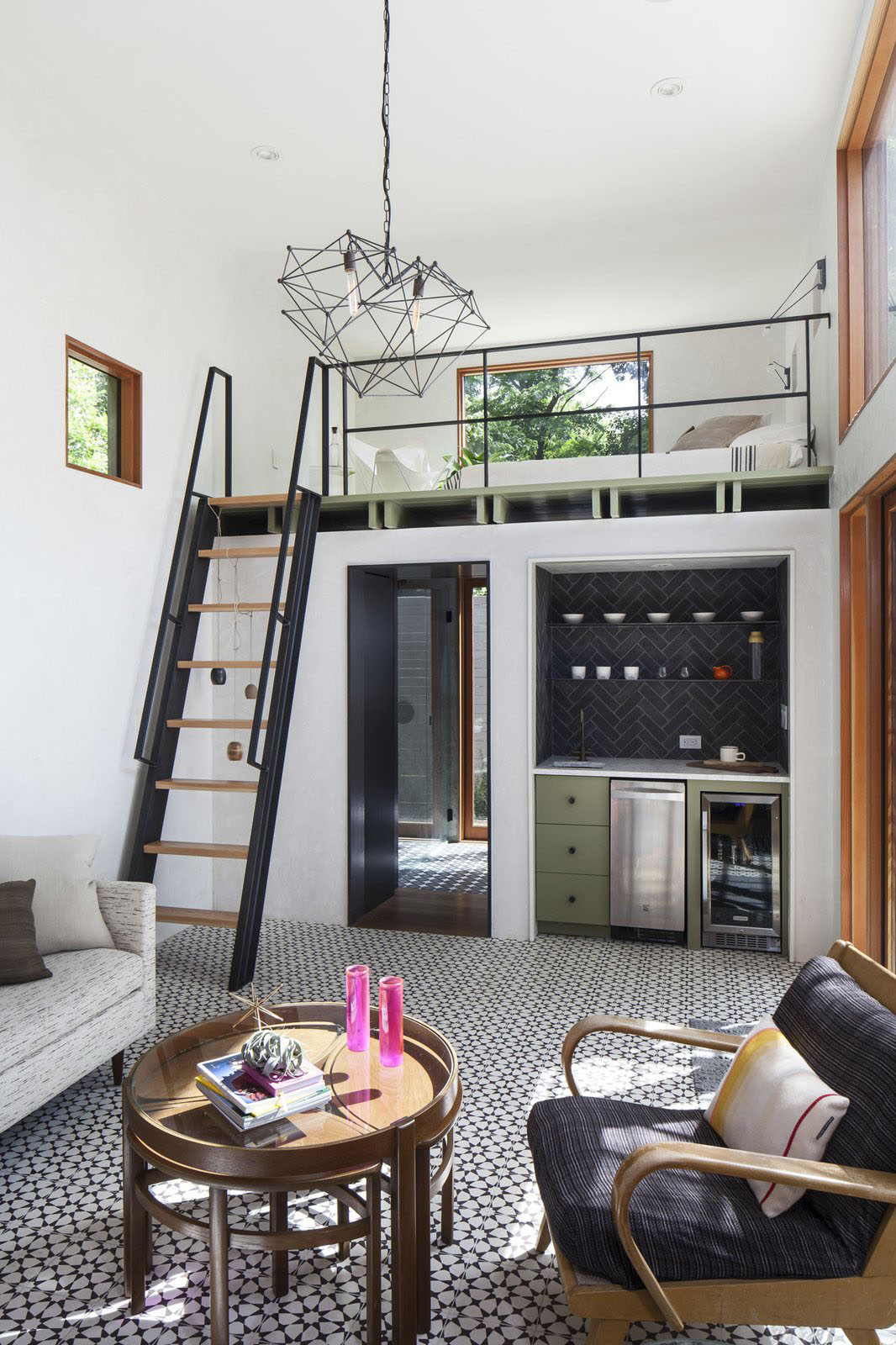 DoubleHeight Casita and New Pool Added to a Small Backyard  iDesignArch  Interior Design