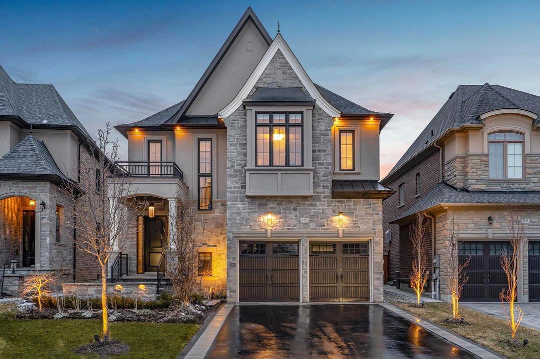 Classic Suburban House Stone Exterior King City Ontario 1