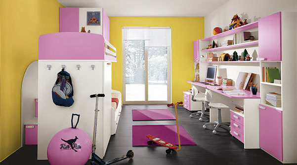 Childrens Bedrooms With Bright Cheerful Colours