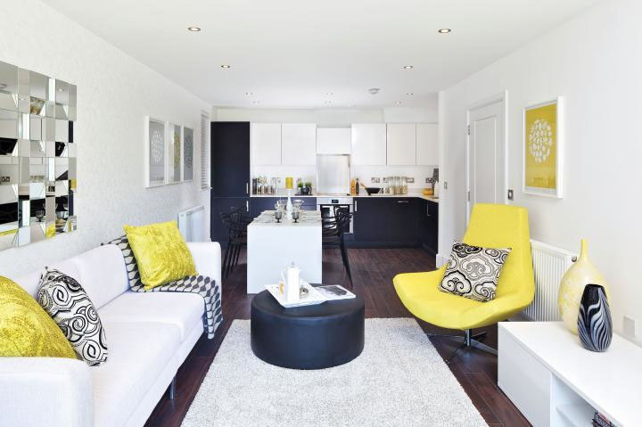 Contemporary Home Design With A Dash Of Yellow ...