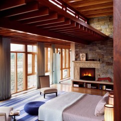 Rustic Living Rooms Interior Decorating Beautiful Stone And Wood House With Indoor Swimming Pool ...