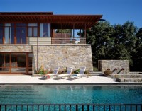 Beautiful Stone and Wood House with Indoor Swimming Pool ...